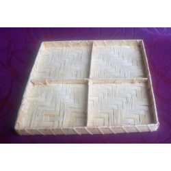 Bambusová tácka štvorec 21x21x2cm