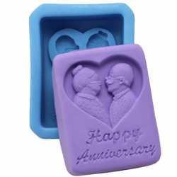 Silikónová forma na mydlo Happy Anniversary
