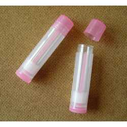 Vysúvacia tuba na balzám na pery - transparentná ružová