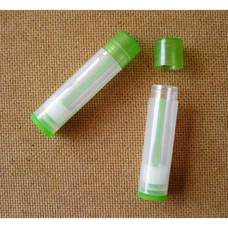 Vysúvacia tuba na balzám na pery - transparentná zelená