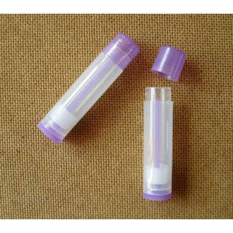Vysúvacia tuba na balzám na pery - transparentná fialová