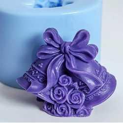 Silikónová forma na mydlo 3D zvončeky