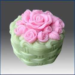 Silikónová forma na mydlo a sviečku košík ruží
