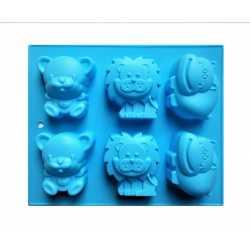 Silikónová forma na mydlo zvieratka III. - 6 ks