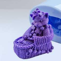 Silikónová forma na mydlo 3D mačička II.