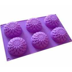 Silikónová forma na mydlo chryzantémy - 6ks