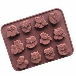 Silikónová forma na mydlo sovičky - 12 ks