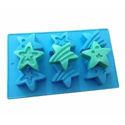 Silikónová forma na mydlo hviezdy - 6 ks