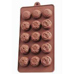 Silikónová forma na mydlo malé kvetinky II. - 15ks
