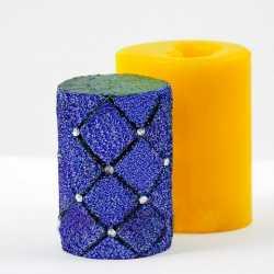Silikónová forma na sviečku kosoštvorce