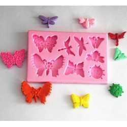 Silikónová mini formička motýliky mix
