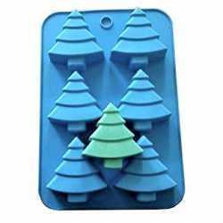 Silikónová forma na mydlo stromčeky - 6ks