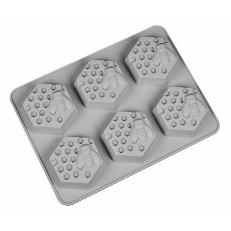 Silikónová forma na mydlo včely - 6ks