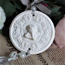 Silikónová forma na závesnú dekoráciu srdce s anjelom II.