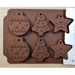 Silikónová forma na mydlo vianočný mix VI. - 6ks