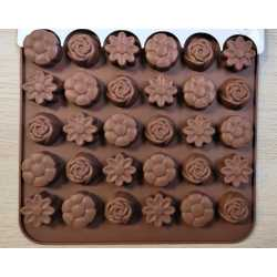 Silikónová forma na mydlo malé kvetinky IV. - 30ks
