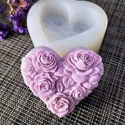 Silikónová forma na mydlo srdce s ružami II.