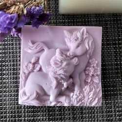 Silikónová forma na mydlo koníky