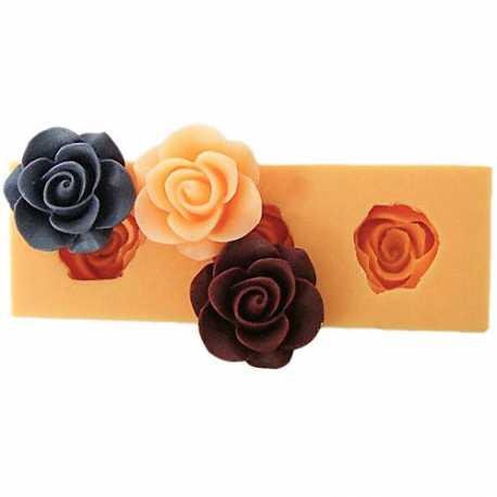 Silikónová miniformička ruže VIII.
