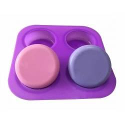 Silikónová forma na mydlo oblé kruhy - 4ks