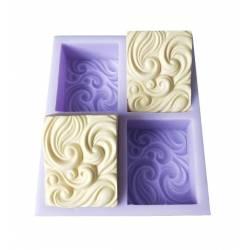 Silikónová forma na mydlo vlny - 4ks