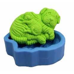 Silikonová forma na mýdlo sharpei se štěnátkem