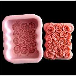 Silikonová forma na mýdlo růžičková vanička