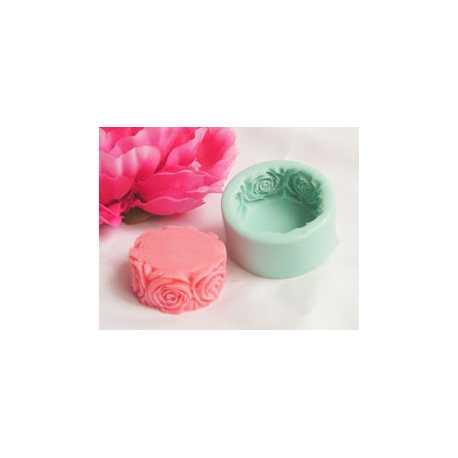 Silikonová forma na mýdlo růžičkový kruh