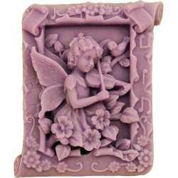 Silikonová forma na mýdlo víla s houslemi