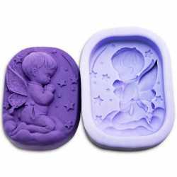 Silikonová forma na mýdlo andílek chlapeček