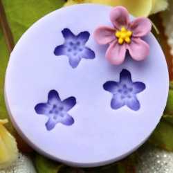 Silikónová mini formička fialky