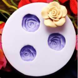 Silikónová mini formička rozkvitnuté ruže II.
